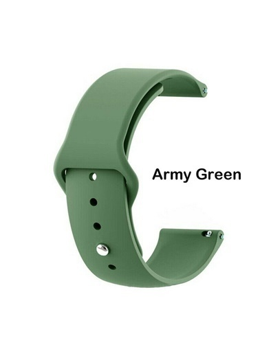 Techmaster Samsung Galaxy Watch 3 41mm Silikon TME Kordon Yeni Model 20mm Haki